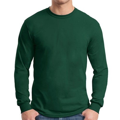Gildan 5400 Cotton Long Sleeve T-Shirt - Forest Green G5400FG