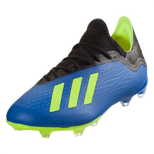 new style fae27 cf13d adidas X 18.2 FG - Football Blue Solar Yellow DA9334