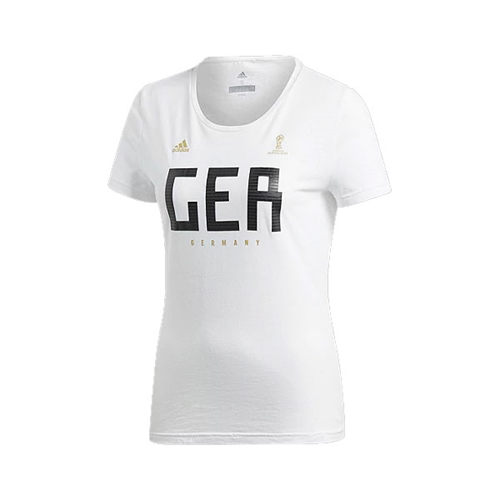 adidas Women's Germany Fan T-Shirt 2018 CW2073