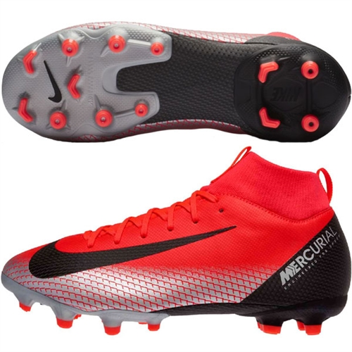 5ebcd13bb Nike Junior Mercurial SuperFly VI Academy CR7 MG - Bright Crimson Chrome  Black AJ3111