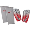 Nike Mercurial Lite Shinguard - Wolf Grey/Light Crimson - NOCSAE SP2120-012