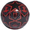 adidas UCL Finale Madrid Capitano Soccer Ball - Black/Active Red DN8679