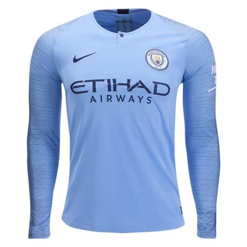 94cc5b4d49d Nike Manchester City Home Long Sleeve Jersey 2018-2019 - AA8058-489 ...