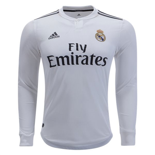 9294d720349 adidas Real Madrid Authentic Home Long Sleeve Jersey 2018-2019 DQ0869