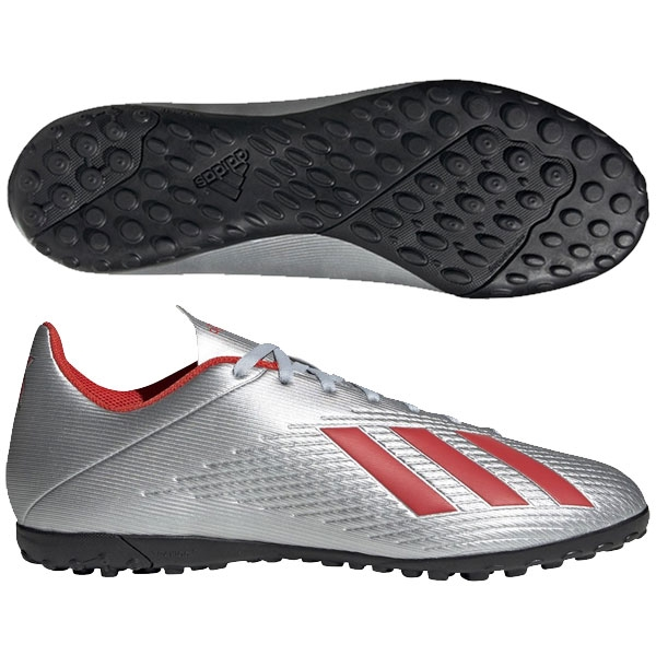 adidas X Tango 18.3 TF - Silver Metallic/Hi Res Red Turf F35344