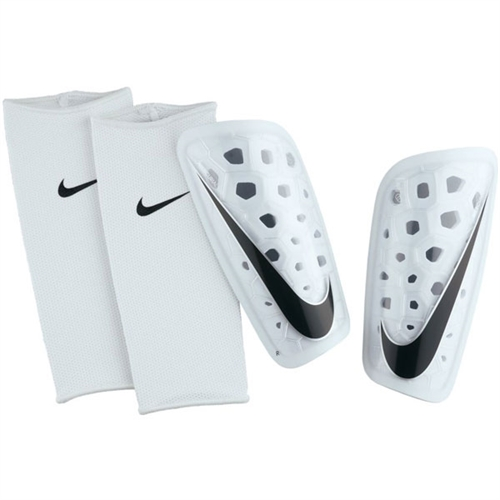 Nike Mercurial Lite Shinguard - White/White/Black - NOCSAE SP2120-101