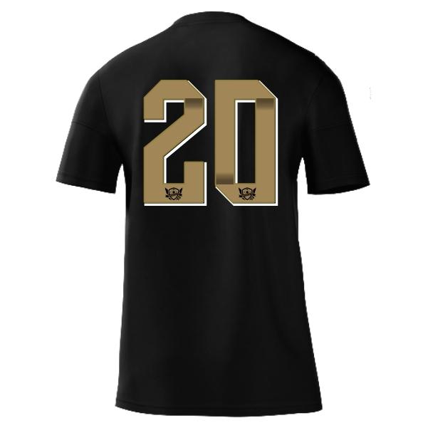 West Side United adidas mi Squadra 17 Jersey - Black/Gold