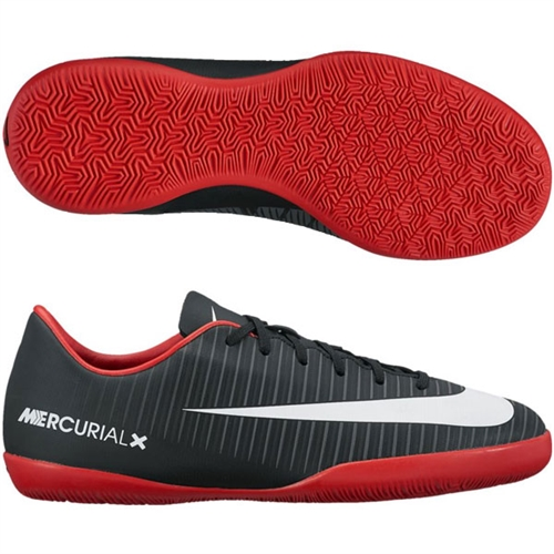 Nike Junior Mercurial Vapor XI IC - Black University Red Indoor 831947-002 34f1f7597dd7