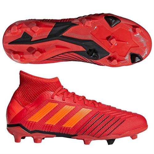 924409496 adidas Junior Predators 19.1 FG - Active Red Solar Red Core Black CM8529