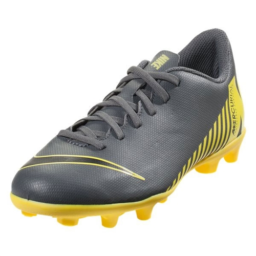 Nike Junior Mercurial Vapor 12 Club MG - Dark Grey/Yellow AH7350-070