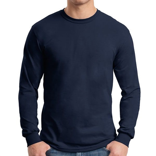 Gildan 5400 Cotton Long Sleeve T-Shirt - Navy G5400Navy