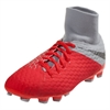 Nike Hypervenom III Acadmey DF JR FG - Light Crimson/Wolf Grey AH7287-600