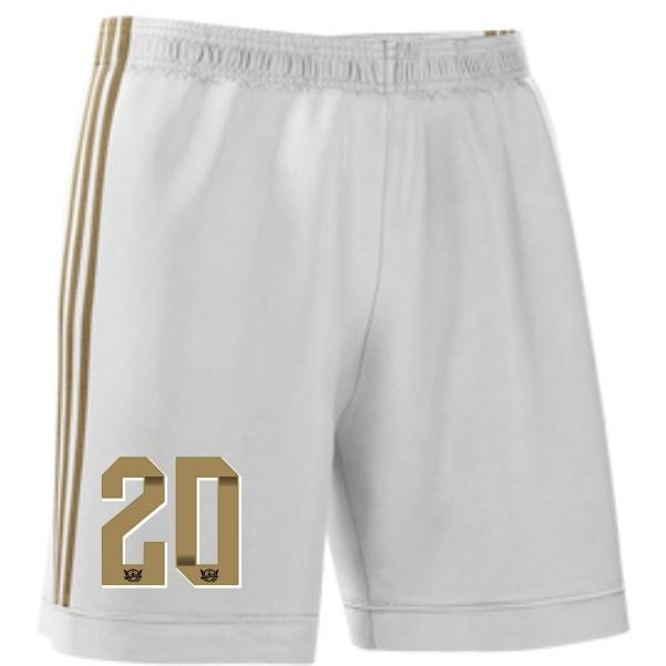 West Side United adidas Youth mi Squadra 17 Shorts - White/Gold