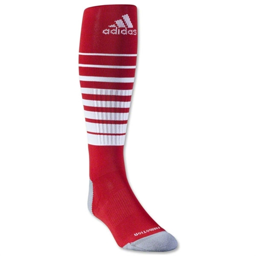 adidas Team Speed Soccer Sock - Red/White 5130045RedWhi