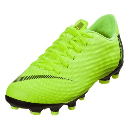 Nike Junior Mercurial Vapor 12 Academy MG - Volt/Black AH7347-701
