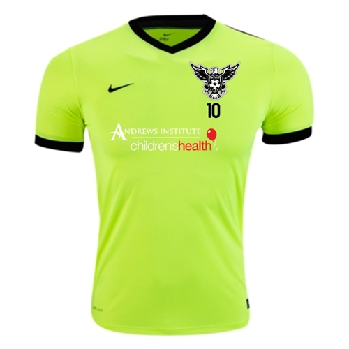online store 98d88 19c89 North Texas United FC Nike Striker IV Training Jersey - Neon Green/Black