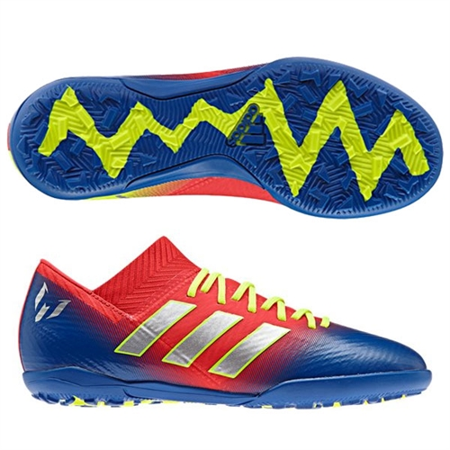 97b11adec adidas Junior Nemeziz Messi Tango 18.3 TF - Active Red/Football Blue Turf  CM8636