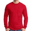 Gildan 5400 Cotton Long Sleeve T-Shirt - Red G5400Red