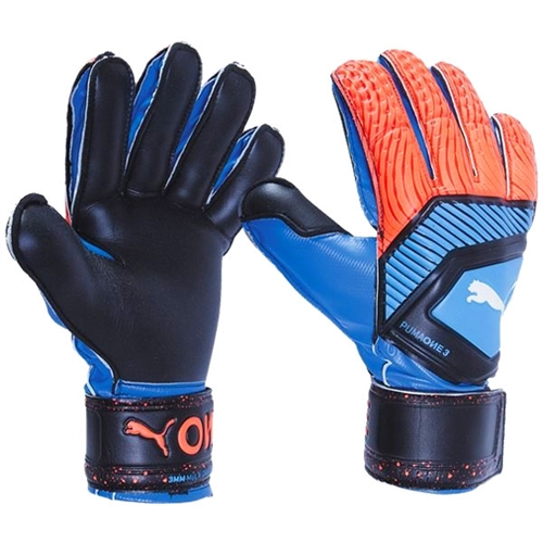 Puma One Protect 3 Goalkeeper Gloves - Blue/Red 041480-21