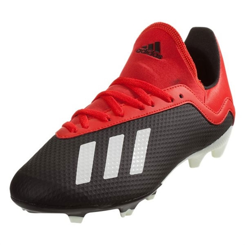 adidas Junior X 18.3 FG - Core Black/Active Red BB9370