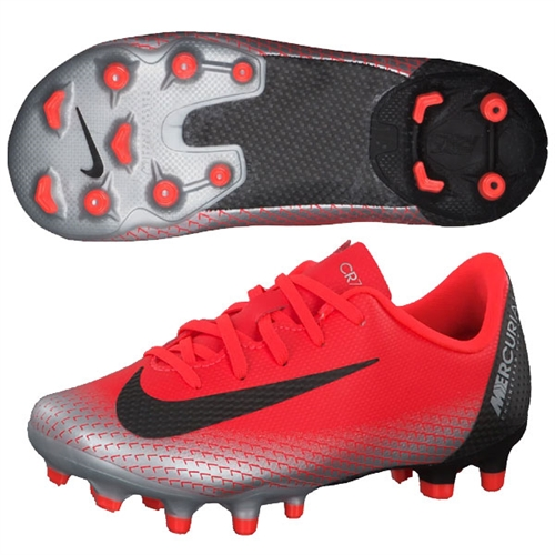 on sale a3984 de171 Nike Junior Mercurial Vapor Academy 12 CR7 MG - Bright Crimson/Black/Chrome