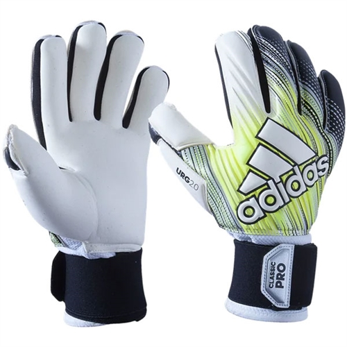adidas Classic Pro Goalkeeping Gloves - Black/Solar Yellow/White DY2631