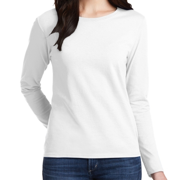 Gildan 5400L Cotton Women's Long Sleeve T-Shirt - White 5400LWhi