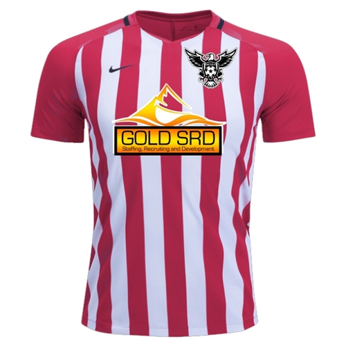 4e44544283c North Texas United FC Nike Youth Strip Division III Jersey - Red White  NTUFC-