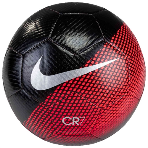 Nike CR7 Prestige Soccer Ball - Black/Flash Crimson SC3370-010