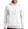 Core Fleece Pullover Hooded Sweatshirt - White PC78HWhi