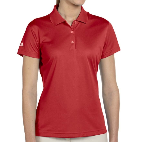 adidas Women's Basic Polo - Red A131Rd