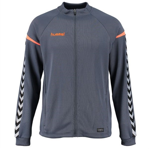 Hummel Youth Authentic Charge Poly Zip Jacket - Grey/Orange 133401