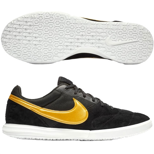 5f39cb0e1a2 Nike Premier II Sala IC - Black Metallic Vivid Gold Indoor AV3153-077
