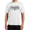 Lee County Strikers Short Sleeve Performance Shirt - White ST350-LCSW