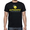 Authentic Soccer T- Shirt - Black  AU-Tee