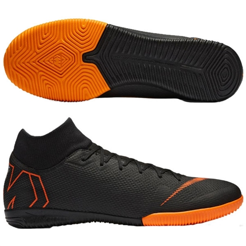 gran descuento 472de ff851 Nike Mercurial SuperflyX VI Academy IC - Black/Total Orange Indoor
