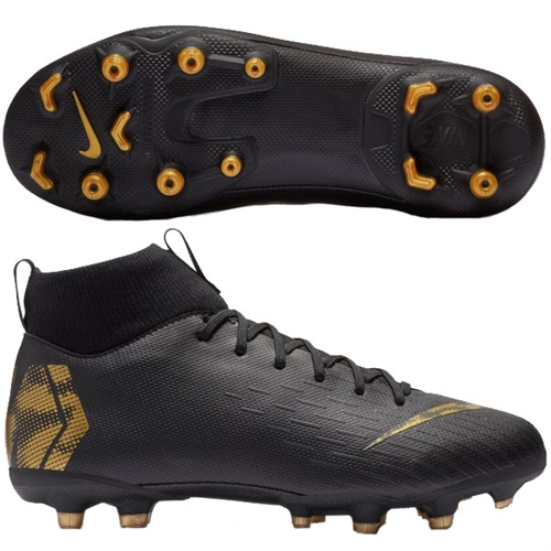 timeless design 14603 b952d Nike Junior Mercurial SuperFly VI Academy MG - Black/Metallic Vivid Gold