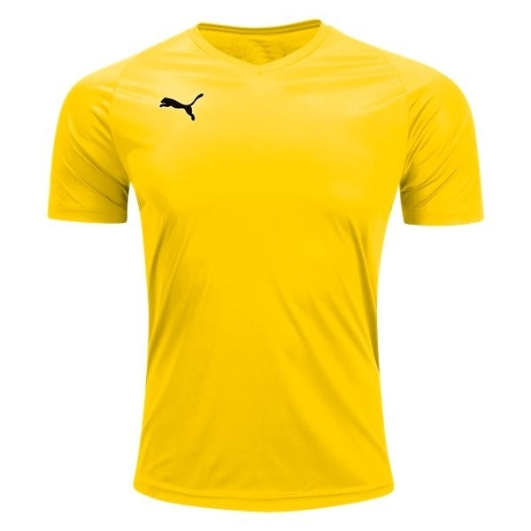 Puma Liga Core Jersey - Yellow - 703509-07 - AuthenticSoccer.com