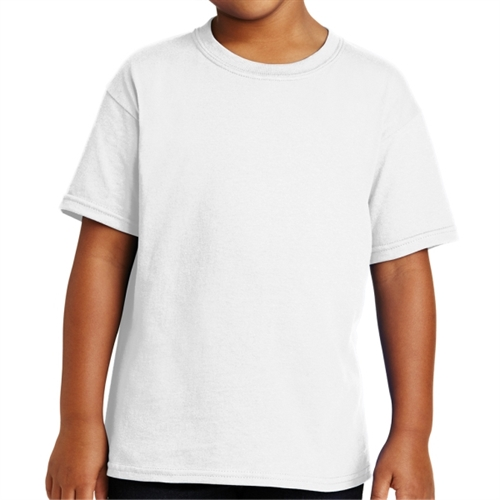 Gildan 5000B Youth Cotton T-Shirt - White 5000B-Whi