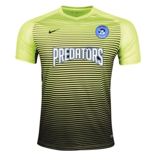 e9be5e553 PBG Predators Nike Precision IV Goalkeeping Jersey - Volt Black  886828-702-PRED