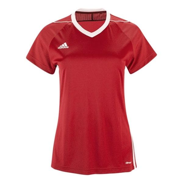 adidas Women's Tiro 17 Jersey - Red/White S99147 - AuthenticSoccer.com
