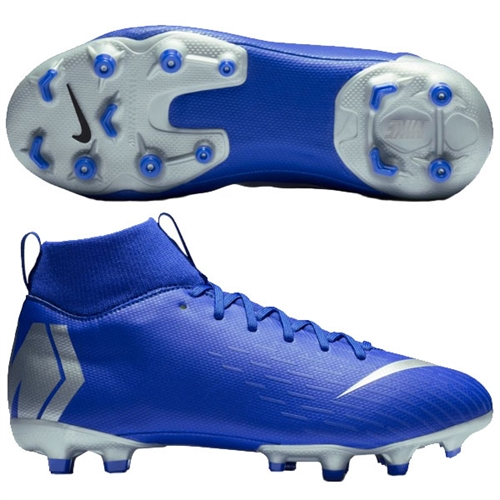 save off fad95 43e13 Nike Junior Mercurial SuperFly VI Academy MG - Racer Blue/Metallic Silver
