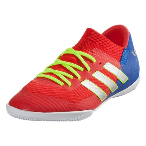 adidas Junior Nemeziz Messi Tango 18.3 IN - Active Red/Football blue Indoor CM8633