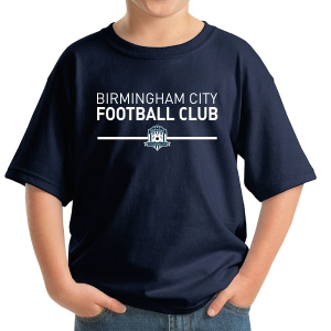 Birmingham City Football Club Youth T-Shirt - Navy BCFC-5000B