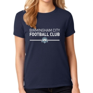 Birmingham City Football Club Supporter Women's T-Shirt - Navy BCFC-5000L