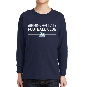 Birmingham City Football Club Youth Long Sleeve T-Shirt - Navy BCFC-5400B