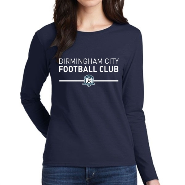 Birmingham City Football Club Supporter Women's Long Sleeve T-Shirt - Navy BCFC-5400L