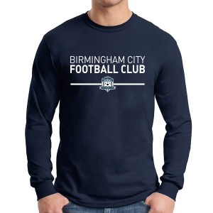 Birmingham City Football Club Long Sleeve Supporter T-Shirt - Navy BCFC-G5400