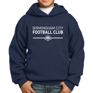 Birmingham City Football Club Youth Hooded Sweatshirt - Navy BCFC-PC90YH