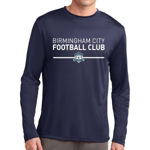 Birmingham City Football Club Long Sleeve Performance Shirt - Navy BCFC-ST350LS